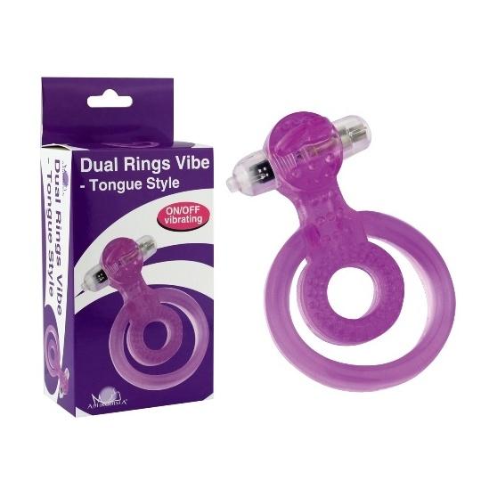Виброкольцо фиолетовое Dual Rings Vibe-Tongue Style