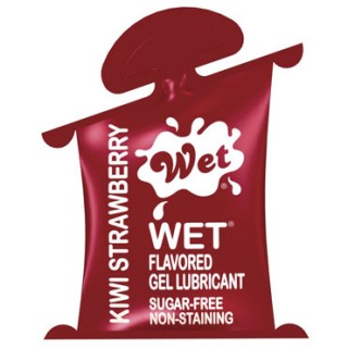Гель-лубрикант WET FLAVORED KIWI STRAWBERRY